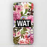 iPhone & iPod Skin featuring WAT by Text Guy