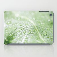 green leaf iPad Case