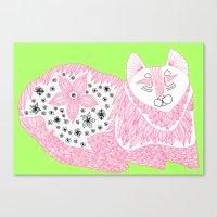 Pink Kitty Canvas Print