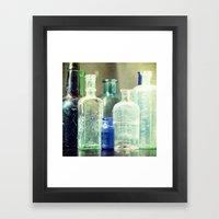 Vintage Bottles Framed Art Print