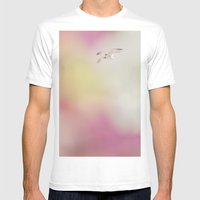 Feel the Soft Fluttering Mens Fitted Tee White SMALL