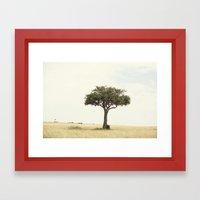 tree hugger::kenya Framed Art Print
