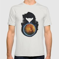 Metroid Prime Mens Fitted Tee Silver SMALL