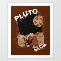 Pluto The Dwarf Planet Art Print