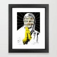 Framed Art Print featuring The Prayer by Marko Köppe