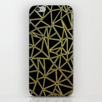 Abstract Blocks Gold iPhone & iPod Skin