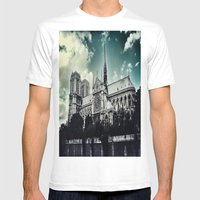 Notre Dame Mens Fitted Tee White SMALL