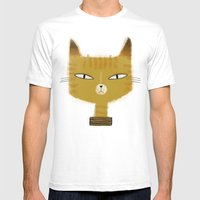 SINISTER KITTY Mens Fitted Tee White SMALL