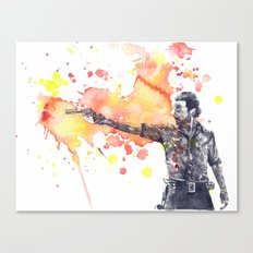 Portrait of Rick Grimes from The Walking Dead Canvas Print