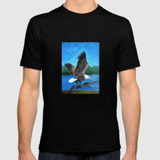 Bald eagle  2 Mens Fitted Tee Black SMALL