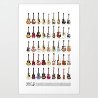 Fab Four Guitars Art Print