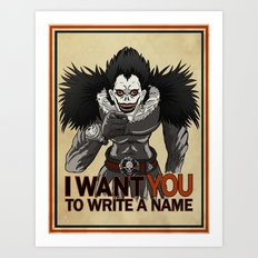 Write a name. Art Print