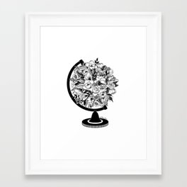 Framed Art Print - What a beautiful world - Henn Kim