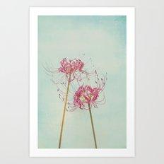 Spider Lily Autumn Botanical Art Print