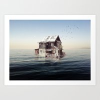 Home On The Water Art Print