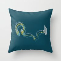 Plug In The Music Throw Pillow