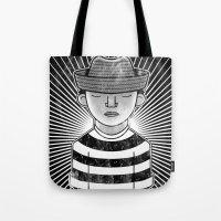 Fisher Man B/W Tote Bag