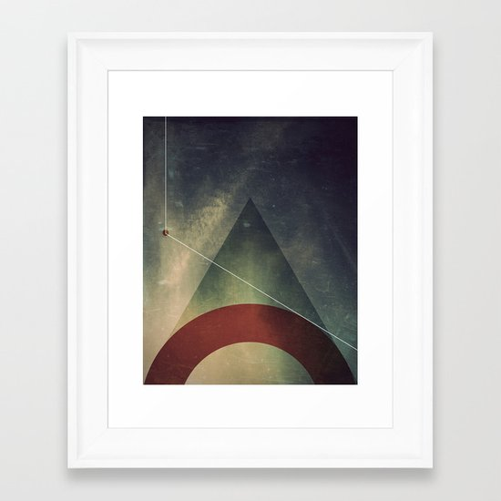 triangle half circle Framed Art Print