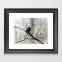 Perched Vulture Framed Art Print