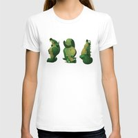 3 dragons in a cave Womens Fitted Tee White SMALL