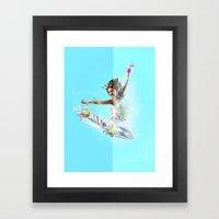 Break Through Framed Art Print