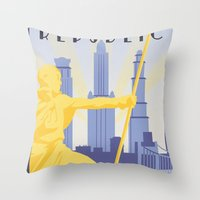 Republic City Travel Poster Throw Pillow
