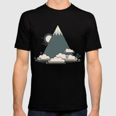 Cloud Mountain SMALL Mens Fitted Tee Black