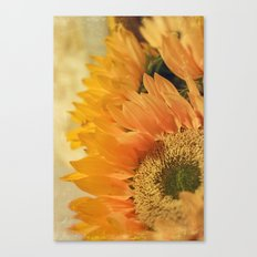 Here Comes the Sun -- Sunflower Botanical Canvas Print