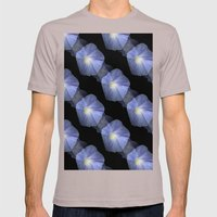Morning Glory Illusion On Black Mens Fitted Tee Cinder SMALL