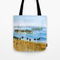 Long Beach Oil Islands Before Sunset Tote Bag