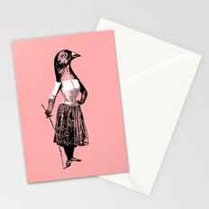The Fencing Pigeon Stationery Cards