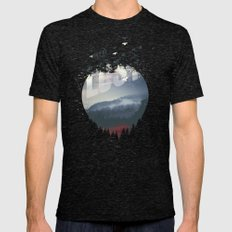 Happily Lost Mens Fitted Tee Tri-Black SMALL