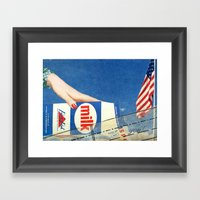 Milking America Framed Art Print