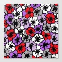 Flower Power (red purple version) Canvas Print