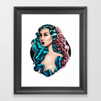 Flora (Color) Framed Art Print