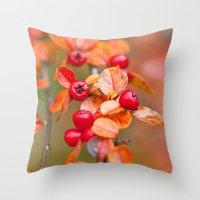 Autumnal Cotoneaster 93… Throw Pillow