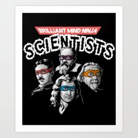 Brilliant Mind Ninja Sci… Art Print