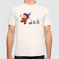 The Pied Piper Of Hameli… Mens Fitted Tee Natural SMALL