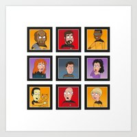 The Family Star Trek Bun… Art Print