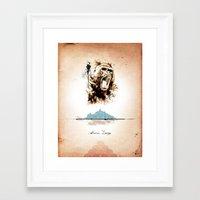 2 Of 3 Triptych Print Se… Framed Art Print