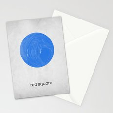 red square Stationery Cards