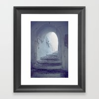 Light at the end of the tunnel Framed Art Print