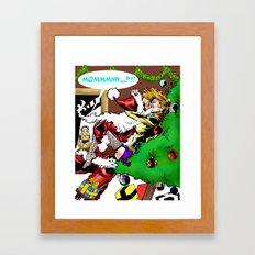 I saw mommy kissing Santa Claus Framed Art Print