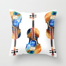 Violin Art By Sharon Cummings Throw Pillow