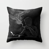 Twisted Reflection Throw Pillow