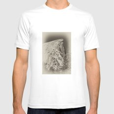 Yosemite Half Domes Backside Re-imagined White SMALL Mens Fitted Tee