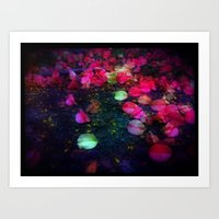 Tumbled Lanterns Art Print