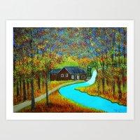 Autumn Landscape 6 Art Print