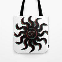 Red Egyptian Sun Tote Bag