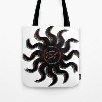 Red Egyptian Sun Tote Bag